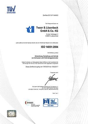 Tweer Lösenbeck Zertifikat