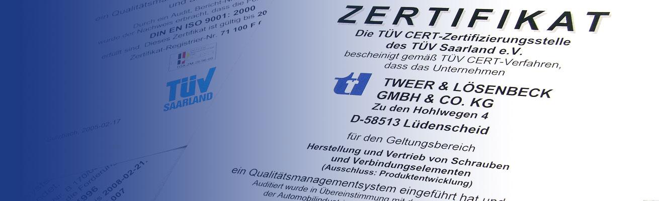 Tweer Lösenbeck Zertifikate